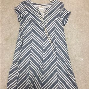 Dresses & Skirts - Blue and white jersey dress